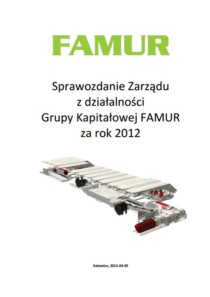 CONSOLIDATED ANNUAL REPORT OF FAMUR GROUP FOR THE YEAR 2012
