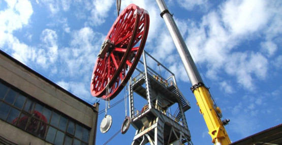 CONSTRUCTION AND UPGRADING OF MINING HOISTS INCLUDING THE INSTALLATION OF MACHINES AND EQUIPMENT