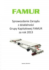 CONSOLIDATED ANNUAL REPORT OF FAMUR GROUP FOR THE YEAR 2013