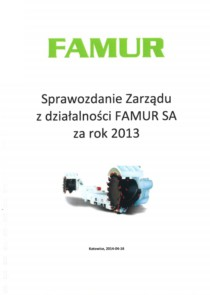 Individual annual report of FAMUR SA for the year 2013