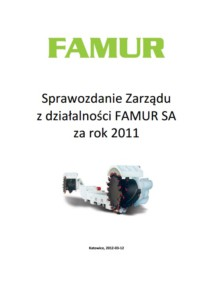 Individual annual report of FAMUR SA for the year 2011
