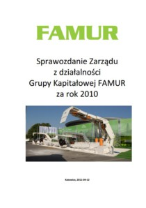 Consolidated annual report of Grupa FAMUR SA for the year 2010