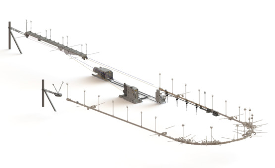 SUSPENDED MONORAIL SYSTEM KSP-32 AND KSP-63